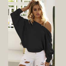 Sexy open One Shoulder Ribbed Women T Shirt Black Long Tie Sleeve Vogue Top summer Harajuku 2019 new Korean fashion girls tee цена 2017