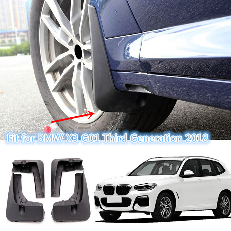 Fit for BMW X3 G01 Third Generation 2018 car-styling Accessories Exterior Plastic Splash Guards Mud Flaps Mud Guards 4pcs все цены