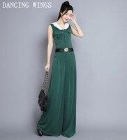 Осенняя модная одежда с капюшоном однобортный комбинезоны, женский комбинезон без рукавов повседневные широкие брюки длинные штаны женски