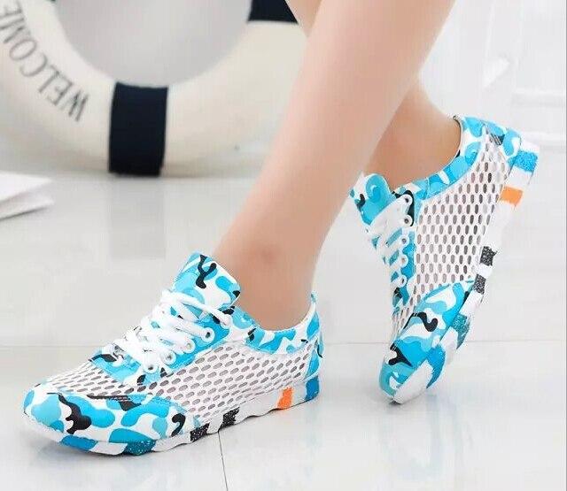 9a0d3d78 Verano transpirable zapatos deportivos de malla de mujer moda 2015 nuevos  patchwork camo steetwear scarpe donna plataforma en Calzado casual de  hombre de ...