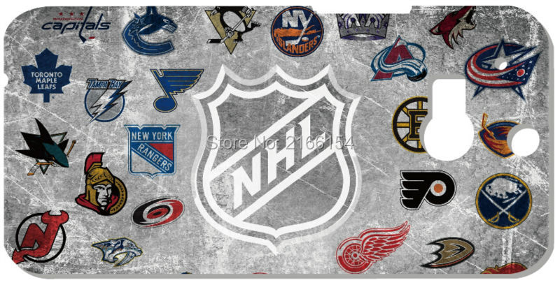 1 font b PC b font Retail Printed NHL LOGO Plastic Hard Cover For HTC one