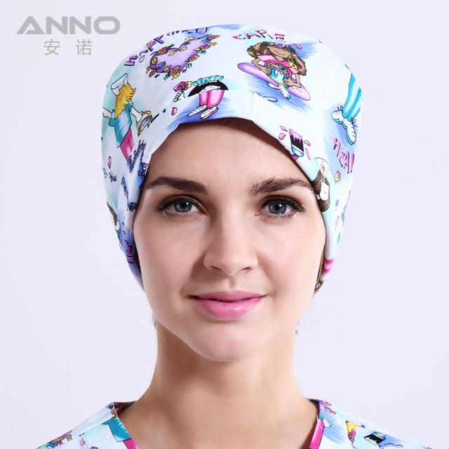 Enfermera encantadora impresión de patrón de Calabaza casquillo médico casquillo unisex sombreros adecuados para pelo largo y corto tapas de quirófano