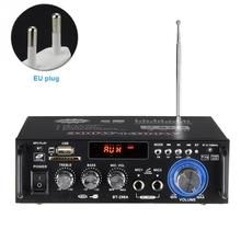 Stereo Durable Easy Use Audio Amplifier Car HIFI 600W Bluetooth Black H