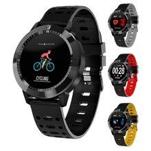 IP67 Inteligente Relógio Relogio de Silicone Vidro Temperado Atividade Rastreador De Fitness Monitor de Freqüência Cardíaca Das Mulheres Dos Homens do Esporte Smartwatch Smartband