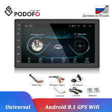 "Podofo Android Car Radio GPS Bluetooth MP5 reproductor Multimedia 2 Din 7 ""WIFI FM Audio automático Universal de Monitor Autoradio(China)"