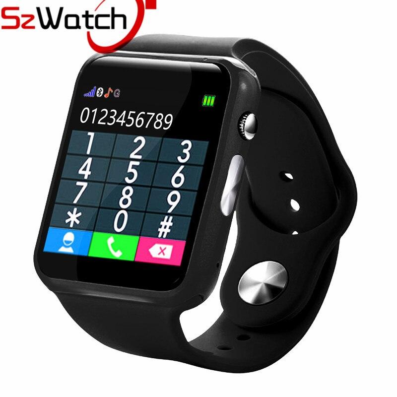 SzWatch A1 reloj inteligente con podómetro Cámara tarjeta SIM llamada M reloj inteligente para Android Smartphone Rusia con caja al por menor