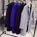 Mens Trench Coat negócio jaqueta casual 2016 Novos Homens Outono Inverno Casaco Longo Casaco de inverno Homens do Revestimento de Trincheira À Prova de Vento Fino