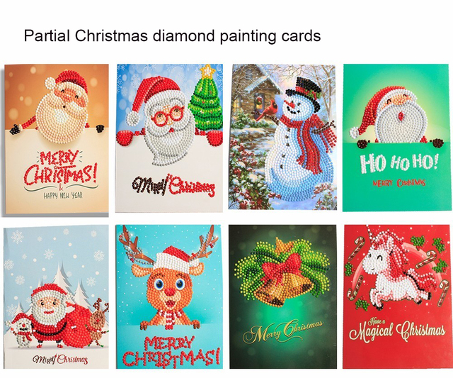 christmas cards for festaval gifts best wishes for friends diy diamond painting embroidery pattern partial - Cheapest Christmas Cards