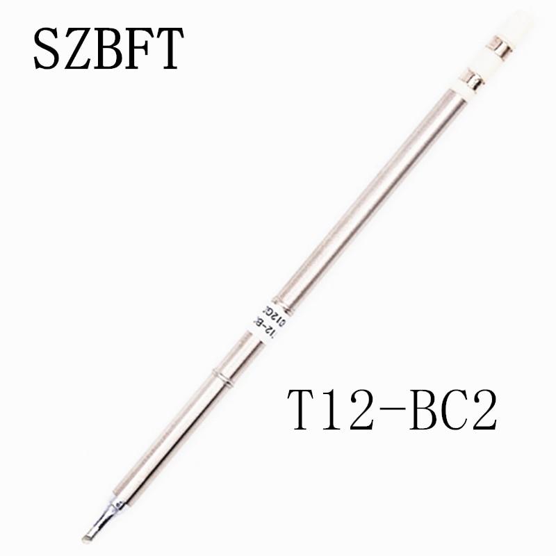 نکات آهن لحیم کاری SZBFT T12-BC2 B B2 BC1 BC2 BC3 BC3 B4 BCF1 سری ect برای ایستگاه تعمیر کارگاه لحیم کاری Hakko FX-951 FX-952