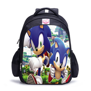 Image 2 - 16 Inch Mario Sonic Boom Hedgehogs Children School Bags Orthopedic Backpack Kids School Boys Mochila Infantil Catoon Bags