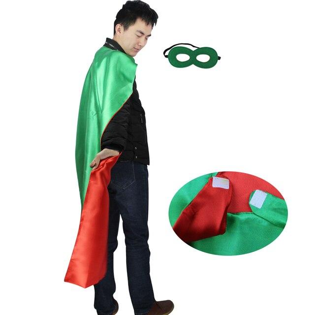 SPECIAL 140*90 cm Adult plain green costume long cape +2 felt half face  sc 1 st  AliExpress.com & SPECIAL 140*90 cm Adult plain green costume long cape +2 felt half ...