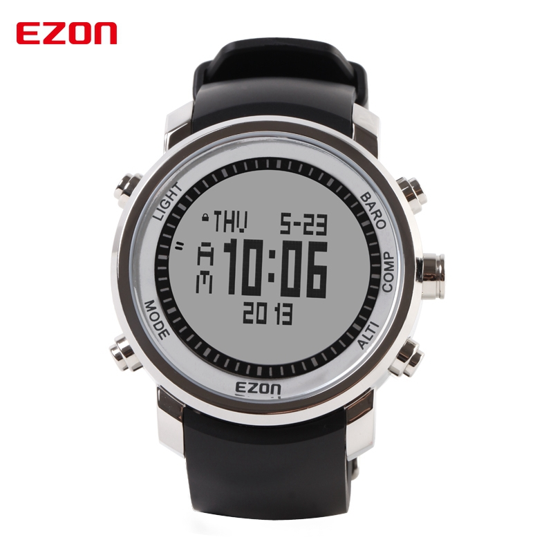 EZON Altimeter Barometer Thermometer Compass Weather Forecast Men Digital Watches Outdoor Sport Climbing Hiking Watch H506A11 top brand ezon h506 outdoor hiking mountain climbing sport watch men s digital watches altimeter compass barometer