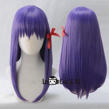 FGO Fate Grand Order Matou Sakura Cosplay Wig Purple Long Straight Role Play Hair