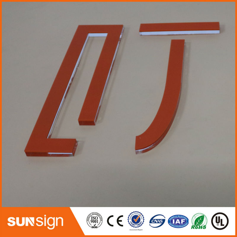 Sunsign modern design transparent 3D acrylic sign letters for saleSunsign modern design transparent 3D acrylic sign letters for sale