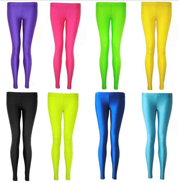 deb173e9aba60a 2017Women Slim spandex Leggings Solid Candy Color Neon Leggings Adventure  Time Skinny High Elastic female Pants Hot& soft legins