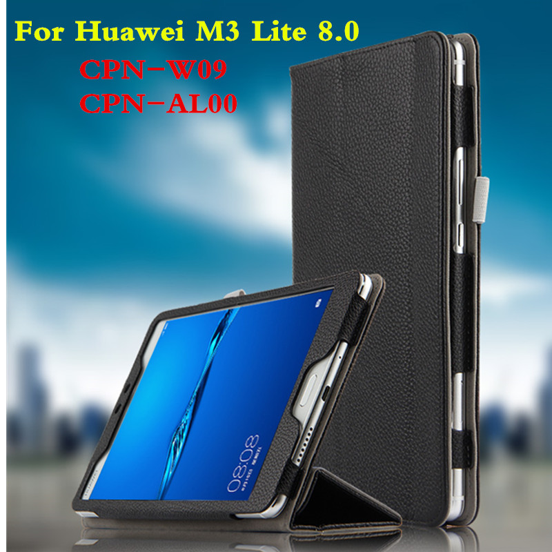 For Huawei MediaPad M3 Lite 8 8.0 inch CPN-W09 CPN-AL00 Tablet Case Genuine Leather Cover  Slim Protective shell Book Cover case for huawei mediapad m3 lite 8 case cover m3 lite 8 0 inch leather protective protector cpn l09 cpn w09 cpn al00 tablet case