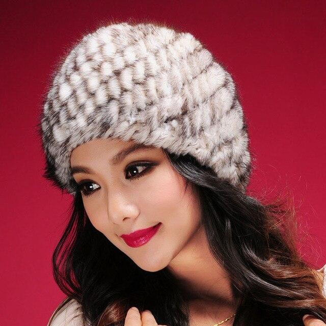 Real mink fur hat Beanie ski cap head warmer headgear hottest Skull womens' hat winter good gift 13603