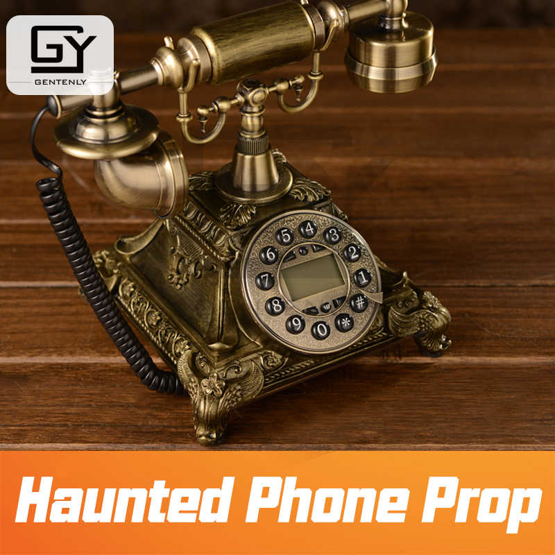 Real life escape room props haunted phone prop dial correct number to  release magnet lock with audio secret chamber room prop