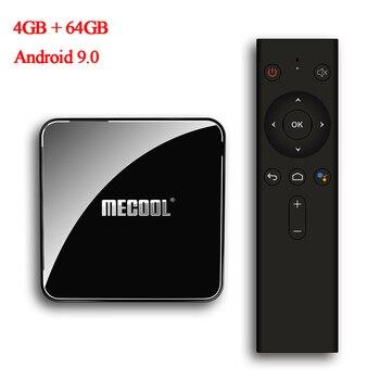 Mecool KM3 ATV Set Top Box Android 9.0 S905X2 4GB LPDDR4 64GB 5G WIFI BT4.0 Google Certificated Voice Control TV Box NEW