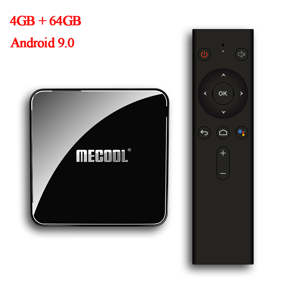 Mecool KM3 ATV Set Top Box Android 9.0 S905X2 4 GB LPDDR4 64 GB 5G WIFI BT4.0 Google Zertifiziert Stimme control TV Box NEUE
