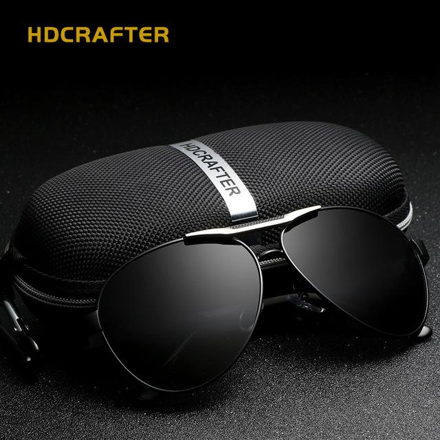 Hdcrafter clásicas gafas de conducción pesca gafas de sol de alta calidad fina de revestimiento gafas de sol luneta de soleil e018-3