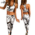 2017 New Spring Women Tracksuit Zipped Crop Top+Long Pants 2 Pieces Sexy Femme Sets Fitness Sporting Suits RS431
