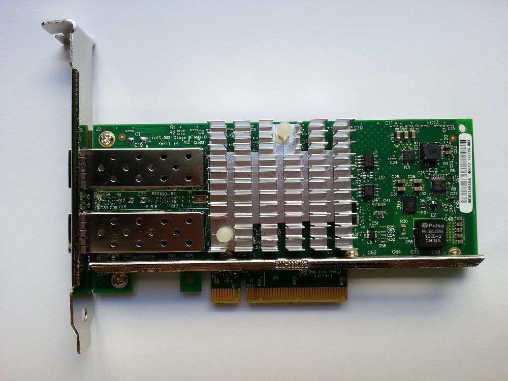 E10G42BTDA Server Adapter X520-DA2 82599ES 10000M/10Gbps PCI Express 2.0 x8 2 x SFP+ Network, Plastic packing, 1 year warranty
