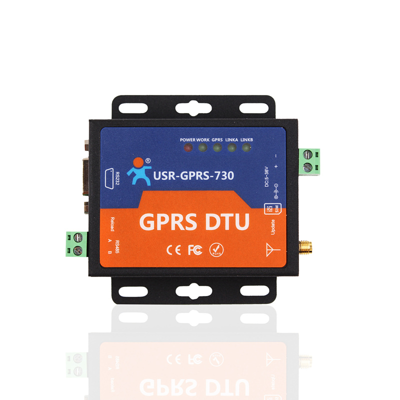 Fast Free Ship GPRS DTU Serial Port Turn GSM232/485 485 interface SMS passthrough|base station positioning USR-GPRS-730 usb to gsm serial port gprs sim800c module with bluetooth ultra sim900a computer control call
