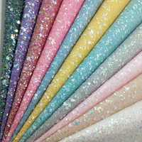 90x134cm Synthetic Letaher, Cuero Sintetico Crystal CHUNKY GLITTER LEATHER For Making Bows Accessories T86