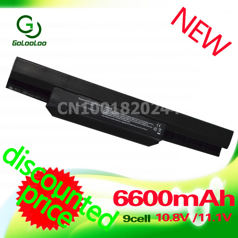 Golooloo 6600mAh Laptop Battery For Asus A32 K53 A31-K53 A42-K53 A31-K53 A41-K53 K53 K53S K53E K53T A53E A53S X53B X54H цена 2017