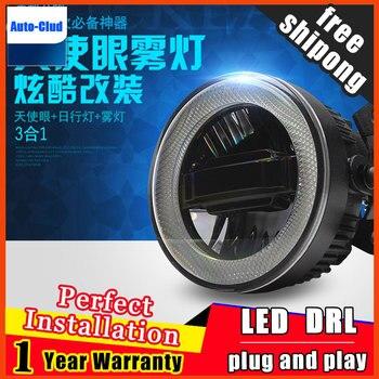 Car Styling Daytime Running Light for Acura TL LED Fog Light Auto Angel Eye Fog Lamp LED DRL 3 function model free shipping