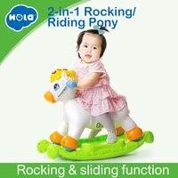 Качалка пони музыкальное образование качалки верхом на лошади на ролики с музыкой/свет/раздвижные игрушки дети учатся ABC, формы и номера
