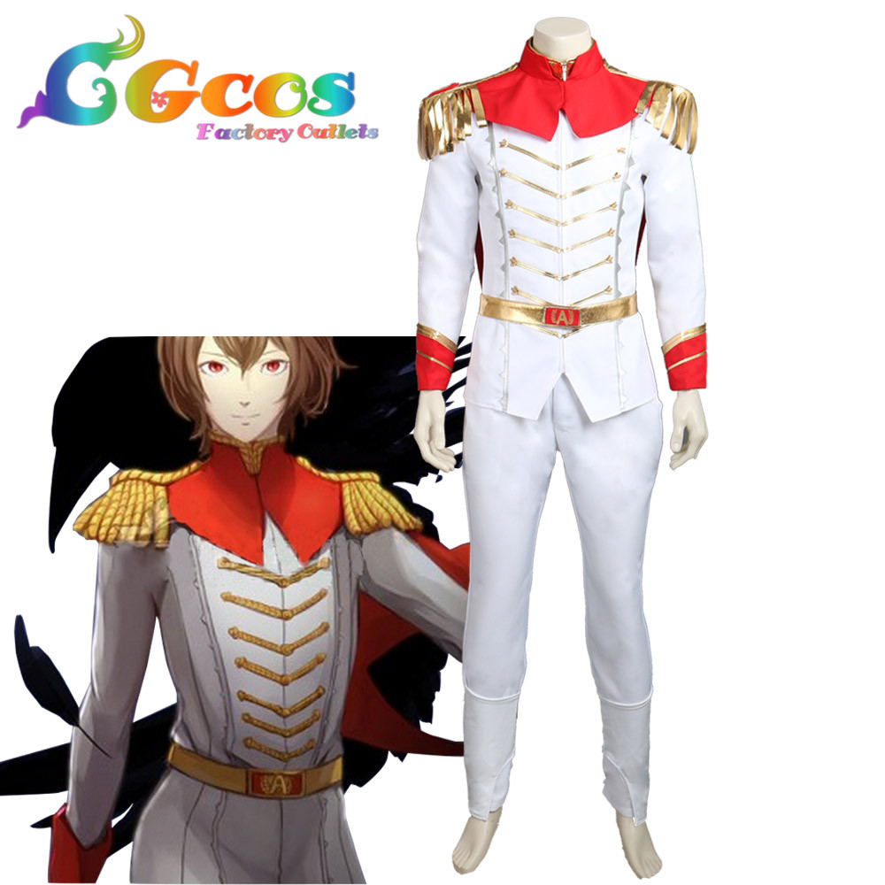 CGCOS Free Shipping Cosplay Costume COS Persona 5 Goro Akechi Crow Uniform Halloween Christmas Party Anime
