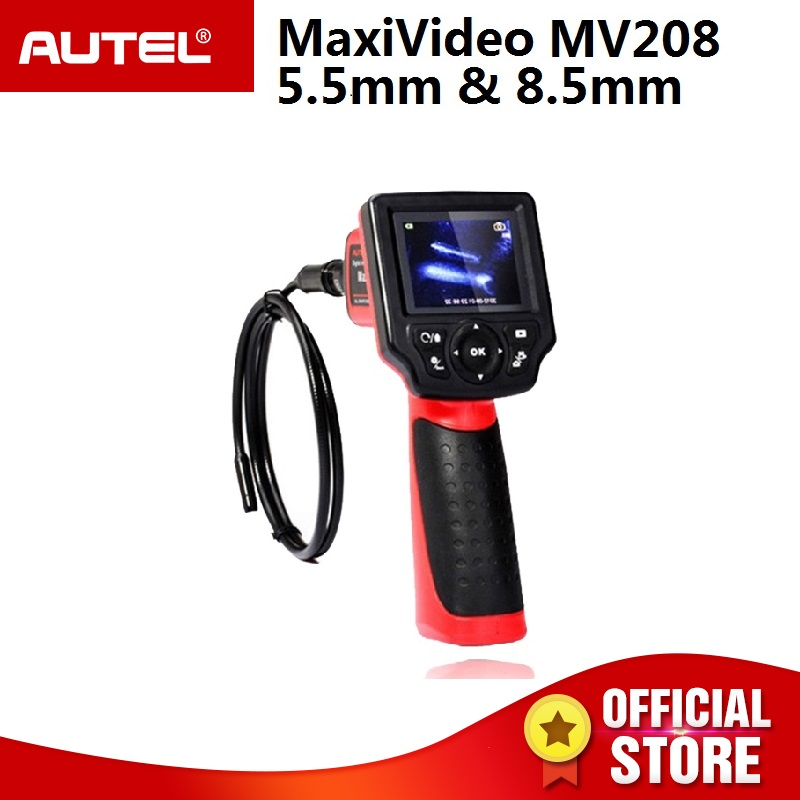Autel Maxivideo MV208 Digital Videoscope 8 5mm and 5 5mm Diameter Imager Heads Record Still Images