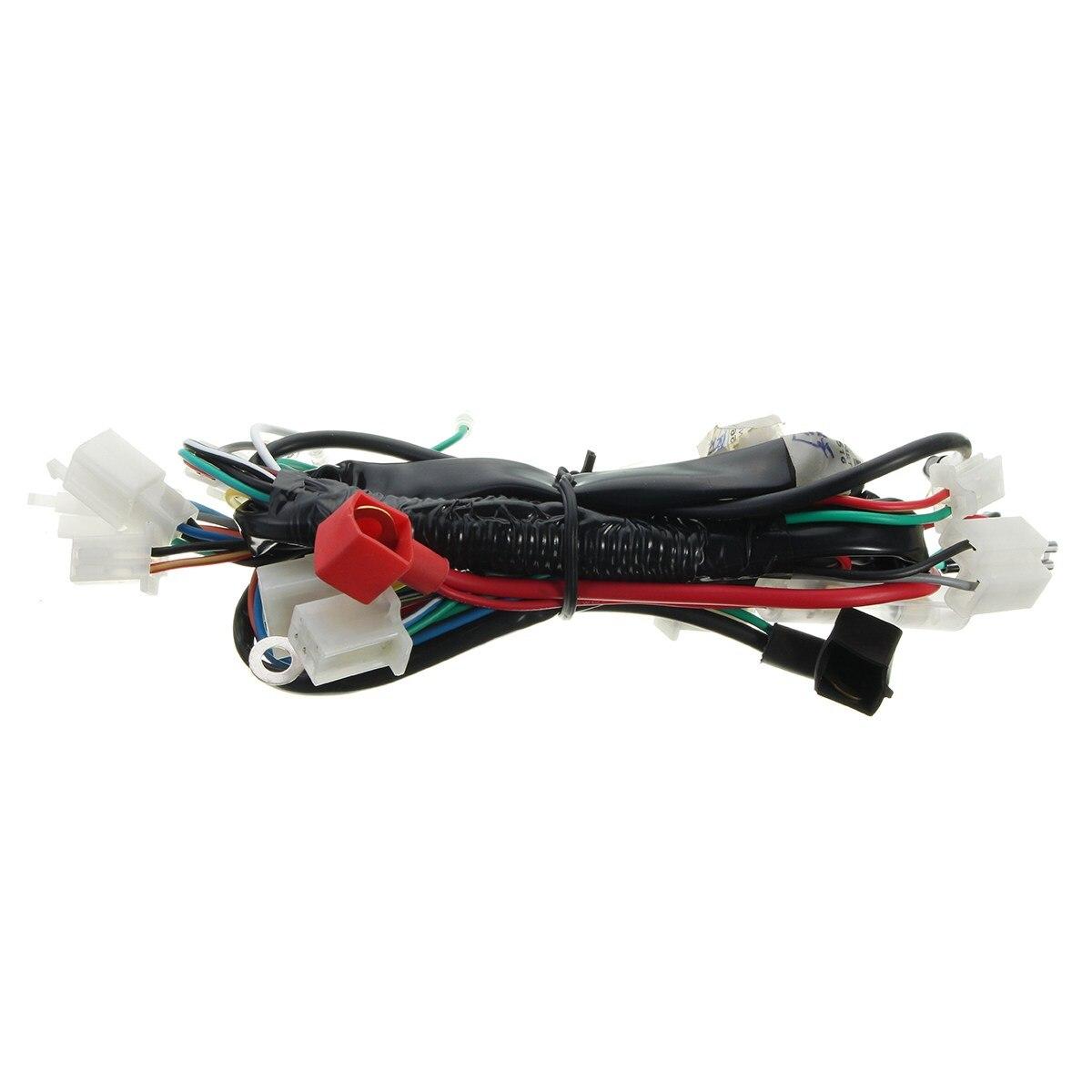 motorcycle wiring harness machine electric start wiring loom harness rh aliexpress com  70cc pit bike wiring