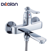 Dikalan Bath Faucet Modern Style Cold And Hot Water Faucet Home Deck Mounted Ceramic Single Hole