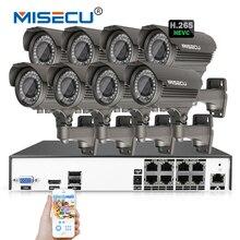 MISECU H.265/H.264 48 V 8*4.0 MP 2.8-12mm Zoom Hi3516D OV4689 8Ch IEE802.3af 4.0MP POE P2P Onvif 4 K HDMI Metal Noche CCTV Sistema