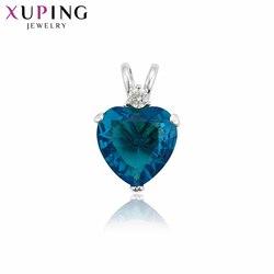 Xuping modny naszyjnik wisiorek kobiety dziewczyny w kształcie serca oświadczenie specjalna popularna biżuteria świąteczne prezenty 34225