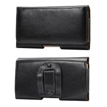 Mobile Belt Case Genuine Leather For Samsung Galaxy S4 Mini Case Leather Real Horizontal Belt Clip Holster Universal Phone Pouch