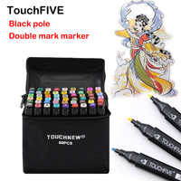TouchFIVE Art Marker 168 Colors Alcohol Double Headed sketch Marker For School Drawing Marker Animation Design School Supplies
