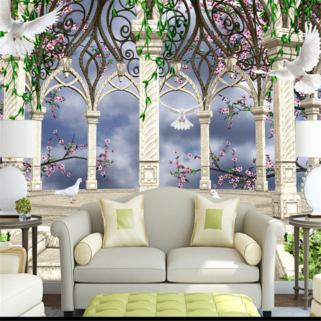 Floral Photo Wallpapers 3D Custom Large Wall Mural Rome Gardens