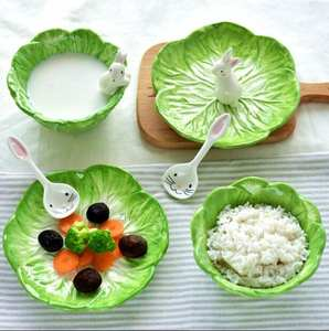 RT Food Fruits Rice Salad Bowl Ceramic Soup Tableware