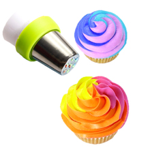 3 Color Cake Decorating DIY Tools Icing Piping Bag Nozzle Converter Cream Coupler Cake Decorating Tools For Cupcake Fondant Cook
