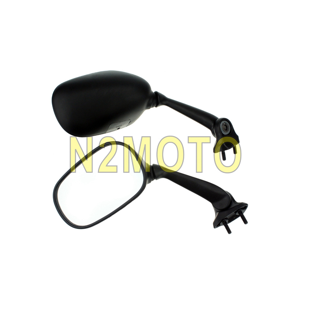 Black Motorcycle Rear View Mirror Side Mirrors for Yamaha YZF-R6 YZFR6 2008-2009