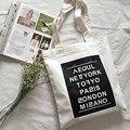 Женщины сумки на ремне новая мода печати Английский капитал повседневная сумка письмо Литературы и искусства хит цвет большой сумки холст, LB1700