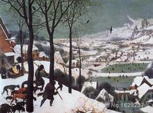 Animal paintings Pieter Bruegel the Elder's reproduction Hunters in the snow hand painted High quality