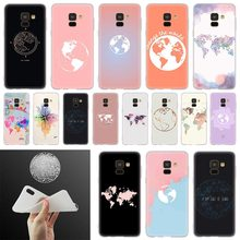 Travel in world map plans Soft Cover Phone Case For Samsung Galaxy A50 A10 A20 A30 A40 A60 A70 A6 A8 Plus A7 A9 2018 A3 A5 2017 black silicone cover cute girlfriend bff for samsung galaxy a8s a9 a7 2018 a8 a6 plus a5 a3 star 2018 2017 phone case