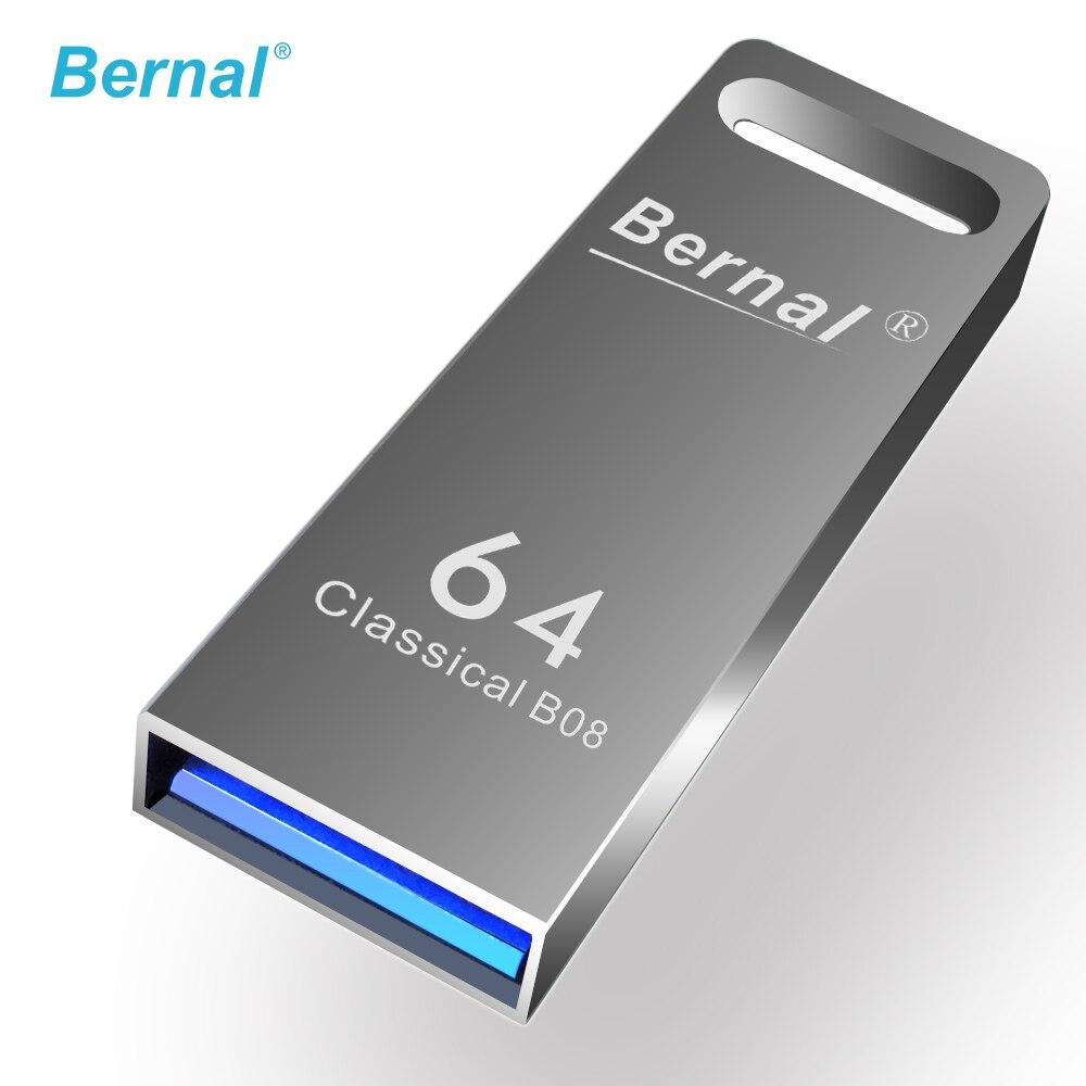 Bernal metal usb 3.0 FLASH MEMORY DISK 8 GB 16 GB 32 GB 64GB high speed usb flash drives pen drive free shipping