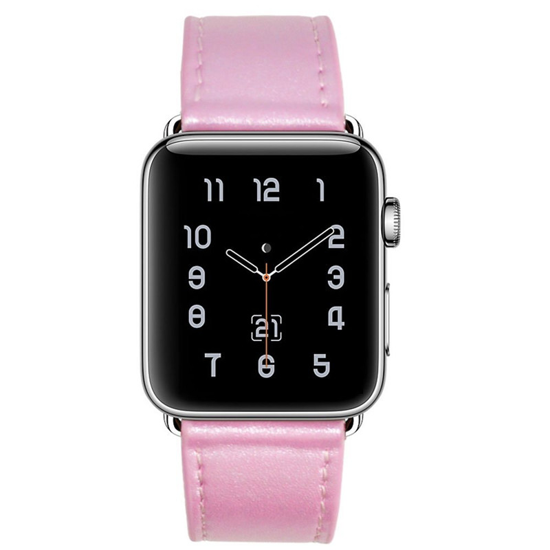 все цены на Women Watch Bands For Apple Watch Band 38mm Genuine Leather Strap For iWatch Series 2 Series 1 Sport & Edition Rose Pink Blue онлайн