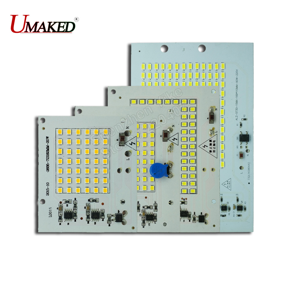1/ 10/ 50PCS COB LED Bulbs Chip Lamp Smart IC 220V 90W 50W 30W 20W 10W For Outdoor FloodLight Warm White / White High Quality